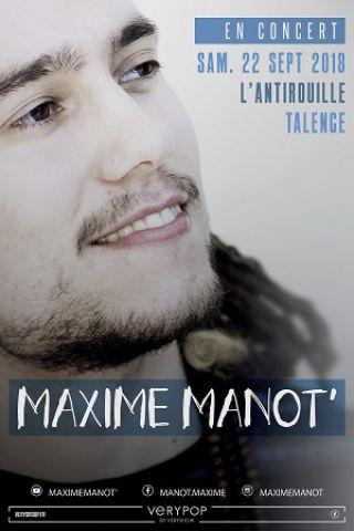 Concert MAXIME MANOT à TALENCE @ ROCK ET CHANSON - Billets & Places