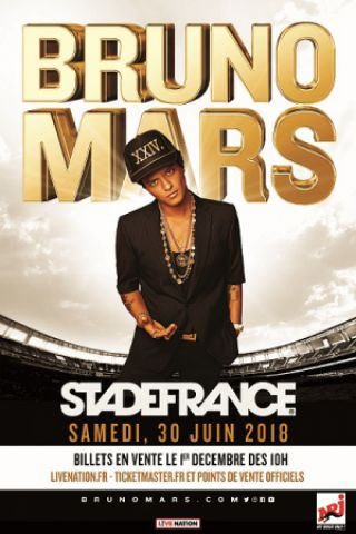 Concert BRUNO MARS à SAINT DENIS @ Stade de France - Billets & Places