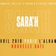 Concert SARA'H à Paris @ Alhambra - Billets & Places