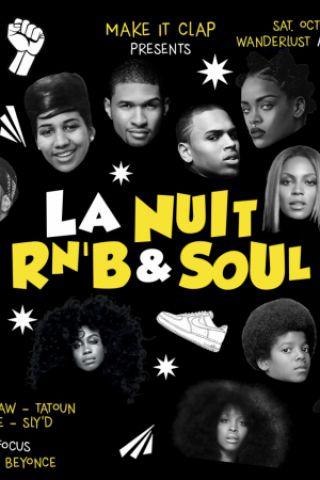Billets La Nuit Rnb & Soul - Wanderlust