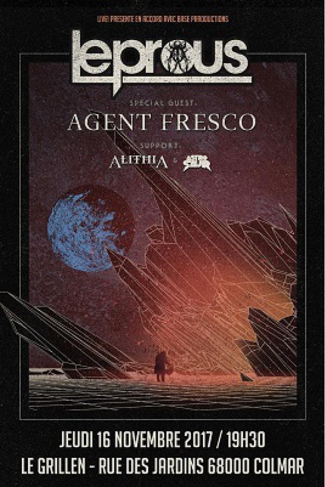 Concert LEPROUS + AGENT FRESCO + ALITHIA + ASTROSAUR