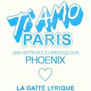 PHOENIX - TI AMO PARIS avec Giorgio Poi et Rémi Parson @ La Gaîté Lyrique - Paris