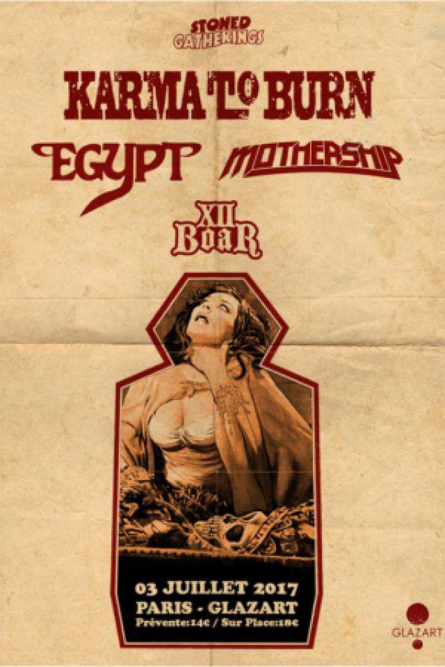 Egypt + Karma to Burn + Mothership + XII Boar / PARIS @ Glazart - PARIS 19