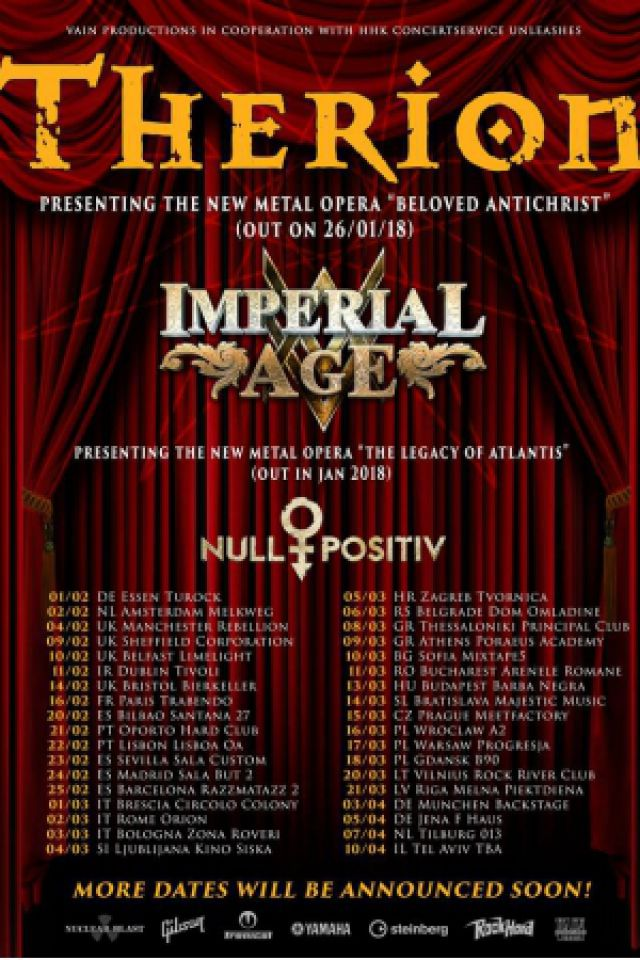 Therion + Imperial Age + Null Positiv + The Devil  @ Espace Julien - Marseille