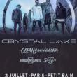 Concert CRYSTAL LAKE + OCEANS ATE ALASKA + KINGDOM OF GIANTS + SHIELDS à PARIS @ Petit Bain - Billets & Places