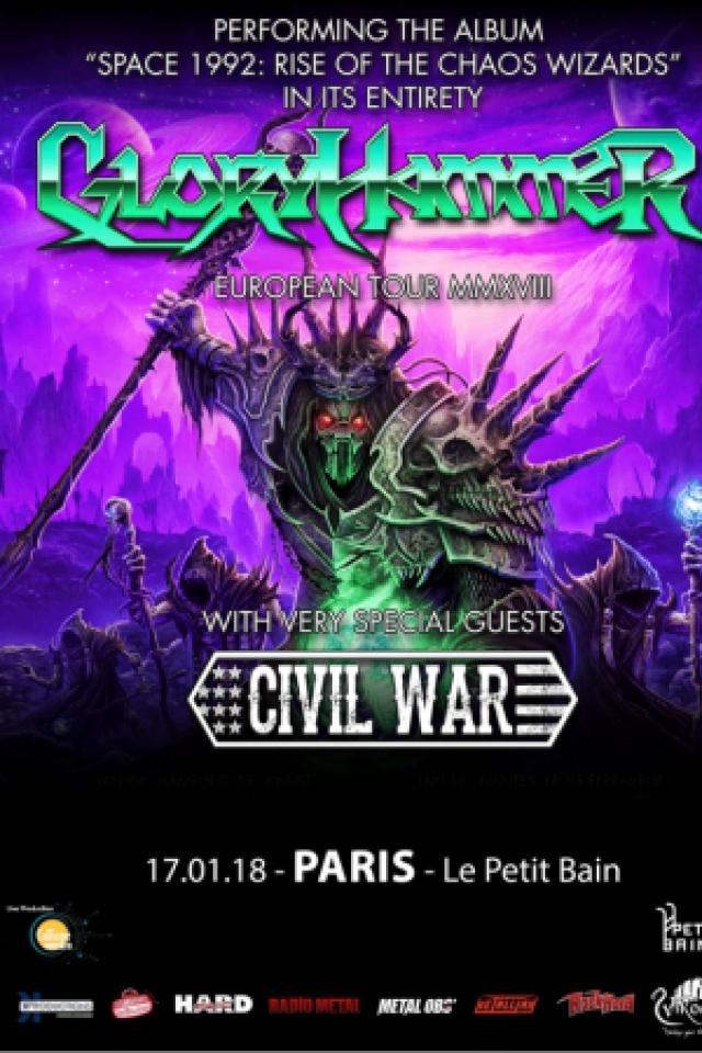 Concert GLORYHAMMER + Civil War + DENDERA