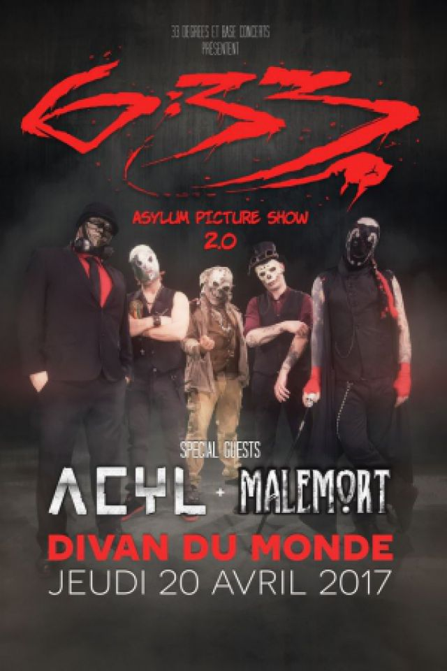"Concert 6:33 + ACYL + MALEMORT ""Asylum picture show 2.0"" à Paris @ Divan du Monde - Billets & Places"