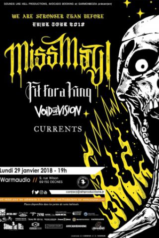 Concert MISS MAY I + FIT FOR A KING + VOID OF VISION + CURRENTS