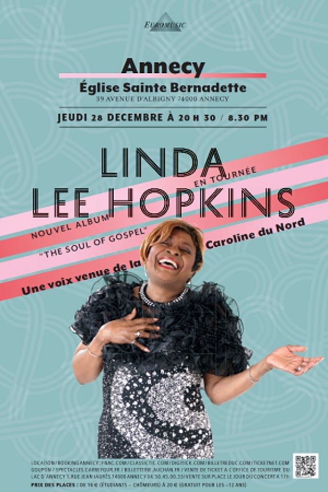 LINDA LEE HOPKINS @ Eglise Sainte Bernadette - Annecy