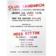 Soirée Club Sandwich Miss Kittin @ Cinema Paradiso SuperClub à Paris @ NEF DU GRAND PALAIS - Billets & Places