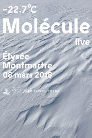 Concert MOLECULE -22.7°C  à PARIS @ ELYSEE MONTMARTRE - Billets & Places