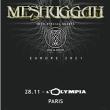 Concert MESHUGGAH Europe 2021 à Paris @ L'Olympia - Billets & Places