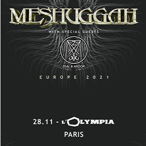 Meshuggah Europe 2021