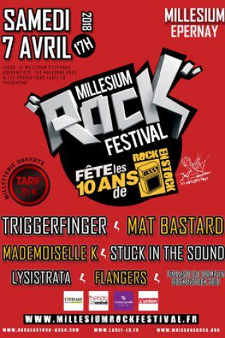 Concert MILLESIUM ROCK FESTIVAL à Epernay @ Le Millesium - Billets & Places
