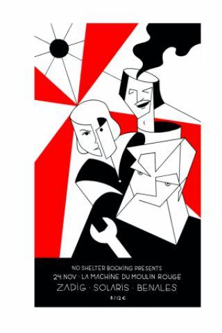 Billets NO SHELTER w/ Zadig, Solaris & Benales  - La Machine du Moulin Rouge