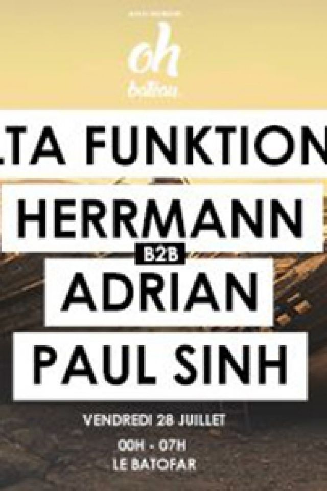 Beat à l'air Presents Delta Funktionen / Herrmann / Adrian / Paul @ Le Batofar - Paris