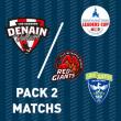 Match PACK 2 MATCHS LEADERS CUP 2021/2022 à DENAIN @ Complexe Sportif Jean Degros - Billets & Places