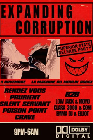 Concert RENDEZ VOUS RELEASE PARTY (EXPANDING CORRUPTION) à Paris @ La Machine du Moulin Rouge - Billets & Places