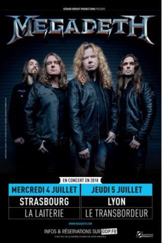 Concert MEGADETH à Villeurbanne @ TRANSBORDEUR - Billets & Places