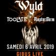 Concert WYLD + TOO LATE + RAPTURFARM à PARIS @ Gibus Live - Billets & Places