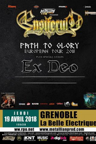 concert ensiferum ex deo grenoble la belle. Black Bedroom Furniture Sets. Home Design Ideas