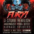 Soirée Fury #4 : D-STURB + REBELION + ANGERNOIZER + PENTA + DETEST