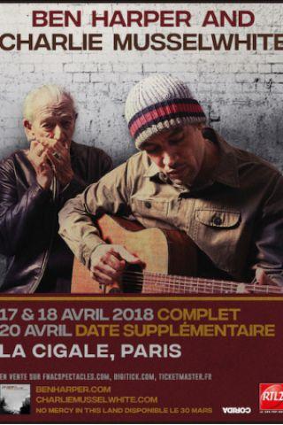 Concert BEN HARPER & CHARLIE MUSSELWHITE à Paris @ La Cigale - Billets & Places