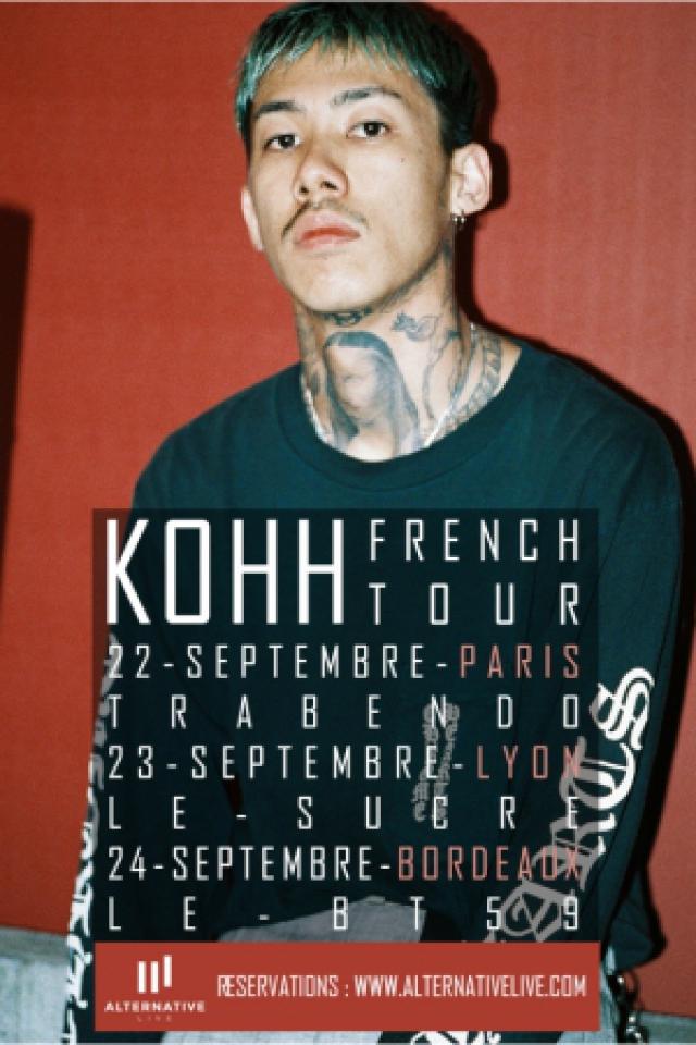KOHH + GUEST @ BT59 - Salle De Concert  - BORDEAUX