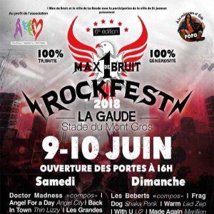 ROCK FEST 2018 - DIMANCHE @ Stade du Mont Gros - LA GAUDE