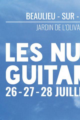 Billets Les Nuits Guitares - Samedi 28 Juillet - Jardin de l'Olivaie