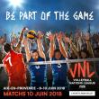 Match VOLLEY BALL NATIONS LEAGUE - DIMANCHE 10 JUIN 2018 à AIX EN PROVENCE @ Arena du Pays d'Aix - Billets & Places