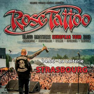 Concert ROSE TATTOO + THE WILD!