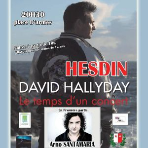 DAVID HALLYDAY @ Place d'armes - HESDIN