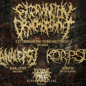 Extermination Dismemberment + Analepsy + Korpse @ Gibus Live - PARIS