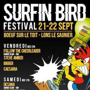 FESTIVAL SURFIN'BIRD - PASS 2 JOURS @ LE BOEUF SUR LE TOIT - LONS LE SAUNIER