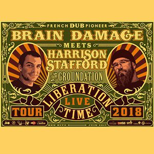BRAIN DAMAGE meets HARRISON STAFFORD (from Groundation) @ LE BIKINI - RAMONVILLE