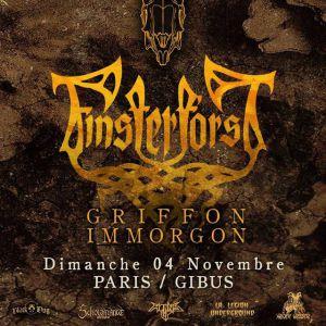 Finsterforst + Griffon + Immorgon @ Gibus Live - PARIS