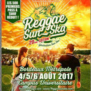 FESTIVAL REGGAE SUN SKA 2017 - PASS 3 JOURS à TALENCE @ Domaine Univ. de Talence Pessac Gradignan - Billets & Places