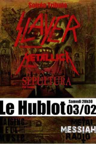 Concert Soirée Tribute Thrash Slayer Metallica Sepultura