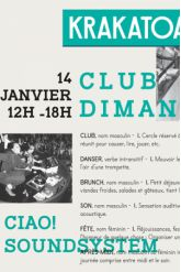 Billets CLUB DIMANCHE : CIAO! SOUNDSYSTEM - Krakatoa