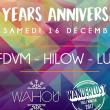 Soirée Wahou 2 YEARS : Bormin, FDVM, Hilow, Lude, Mokoa
