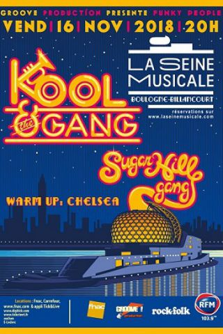 Billets FUNK PEOPLE : KOOL & THE GANG / SUGARHILL GANG - Grande Seine - La Seine Musicale