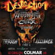 Concert DESTRUCTION + WARBRINGER + CRISIX + DOMINATION INC.