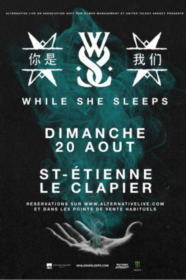 WHILE SHE SLEEPS + Guest @ Le Clapier - SAINT ETIENNE