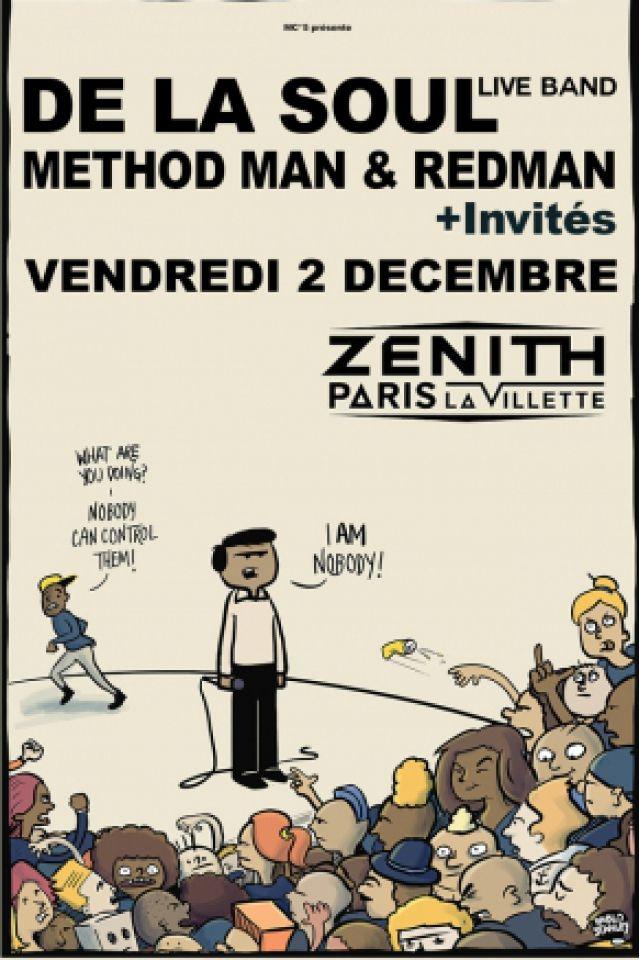 Concert DE LA SOUL Live Band + Methodman & Redman + Invités à Paris @ Zénith Paris La Villette - Billets & Places