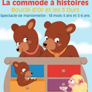 Commode à histoires Boucle d'or et les trois ours @ Théâtre des Grands Enfants - Petit Théâtre - CUGNAUX