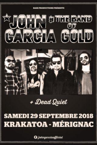 Concert JOHN GARCIA & THE BAND OF GOLD à Mérignac @ Krakatoa - Billets & Places