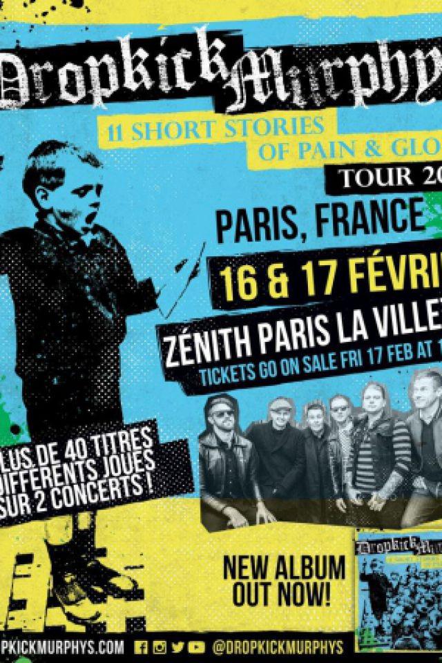 DROPKICK MURPHYS @ Zénith Paris La Villette - Paris
