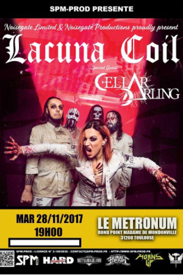 Lacuna Coil + Cellar darling @  LE METRONUM - TOULOUSE