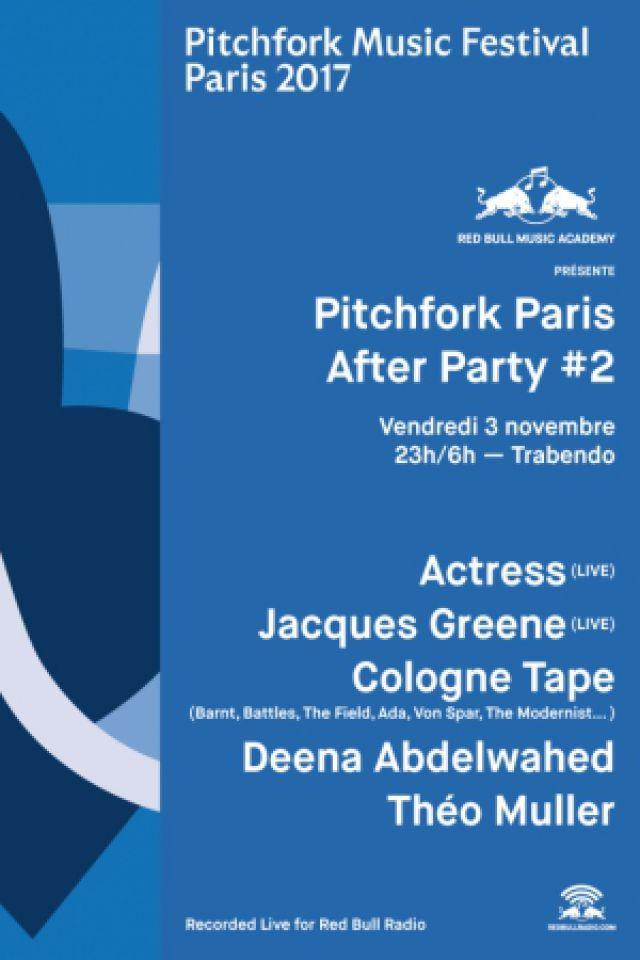 RBMA présente Pitchfork Paris After Party #2: Actress (live)... @ Le Trabendo - Paris